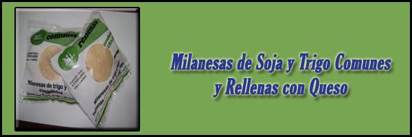 Milanesas de Soja y Trigo Comunes y Rellenas con Queso