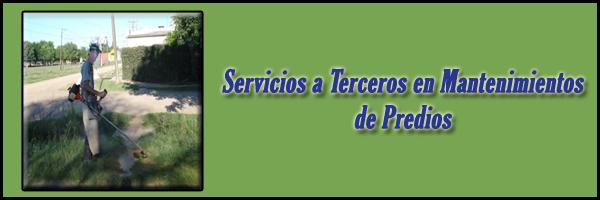 Servicios a Terceros en Mantenimientos de Predios